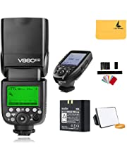 Godox V860II-N TTL Nikon Flash Speedlite 2.4G Wireless GN60 HSS 1/8000s Li-ion Battery Camera Flash Speedlight + Godox XPro-N Trigger TTL Flash Transmitter for Nikon Camera D810 D750 D3100 D3200 D3300 D5000 D5100 D5200 D5300 D7000 D7100