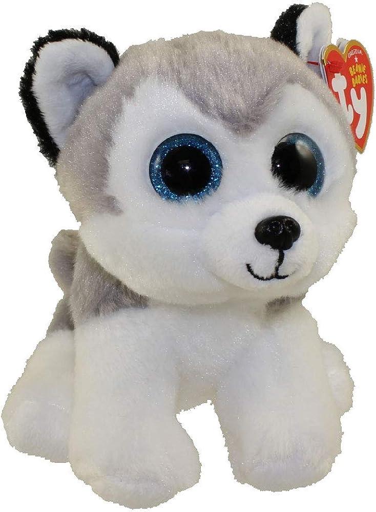 TY Baby - Peluche infantil, 15 cm, color gris