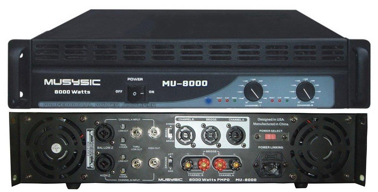 Amazon com: MUSYSIC 8000 Watts 2 Channel Professional DJ PA