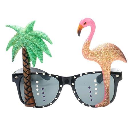 STOBOK Novedad Gafas Redondas Fiesta de Sol Tropical ...