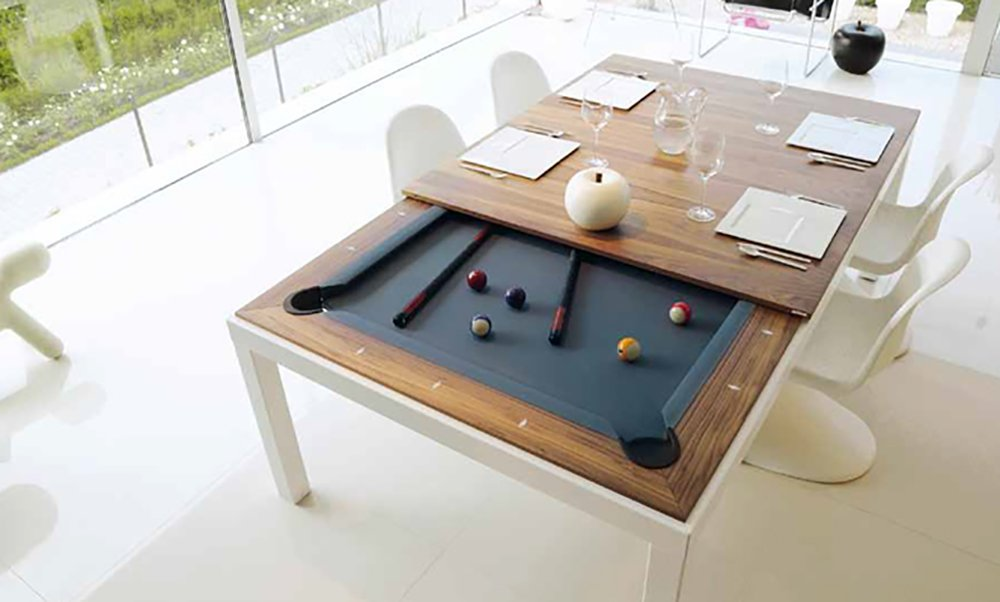 Amazon.com : Fusion Pool Table And Dining Table : Convertible Pool ...