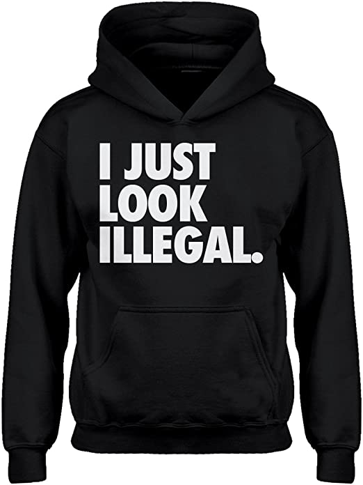 Indica Plateau I just Look Illegal Hoodie for Kids