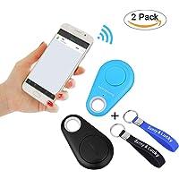 Sunny&Lucky 2pcs Bluetooth Key Finder, Children/Pet/Phone/Key/Wallet/Item GPS Tracker (+ Free Key Ring)