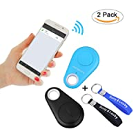 Sunny&Lucky 2pcs Bluetooth Key Finder, Children/Pet/Phone/Key/Wallet/Item GPS Tracker (+ Free Key Ring)