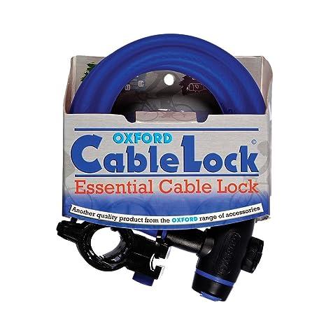 Oxford Cable - Candado para Bicicleta Azul Azul Talla:no aplicable ...