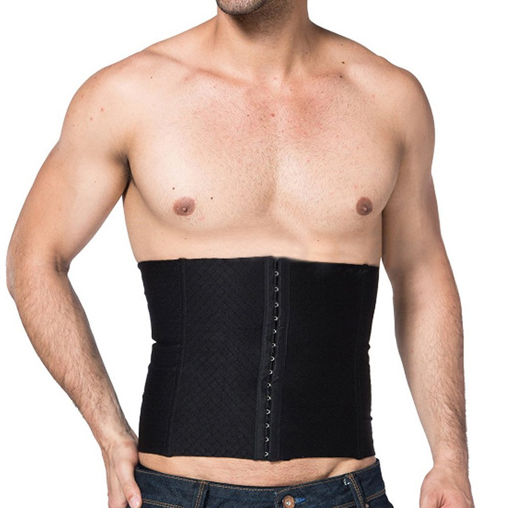EUBUY Men s Waist Slimming Body Shaper Girdle Belt Cincher Steel Boned Waist Trainer Shaper Sports Slimming Trimmer