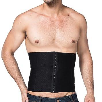 7a98c93ba8 EUBUY Men s Waist Slimming Body Shaper Girdle Belt Cincher Steel Boned Waist  Trainer Shaper Sports Slimming