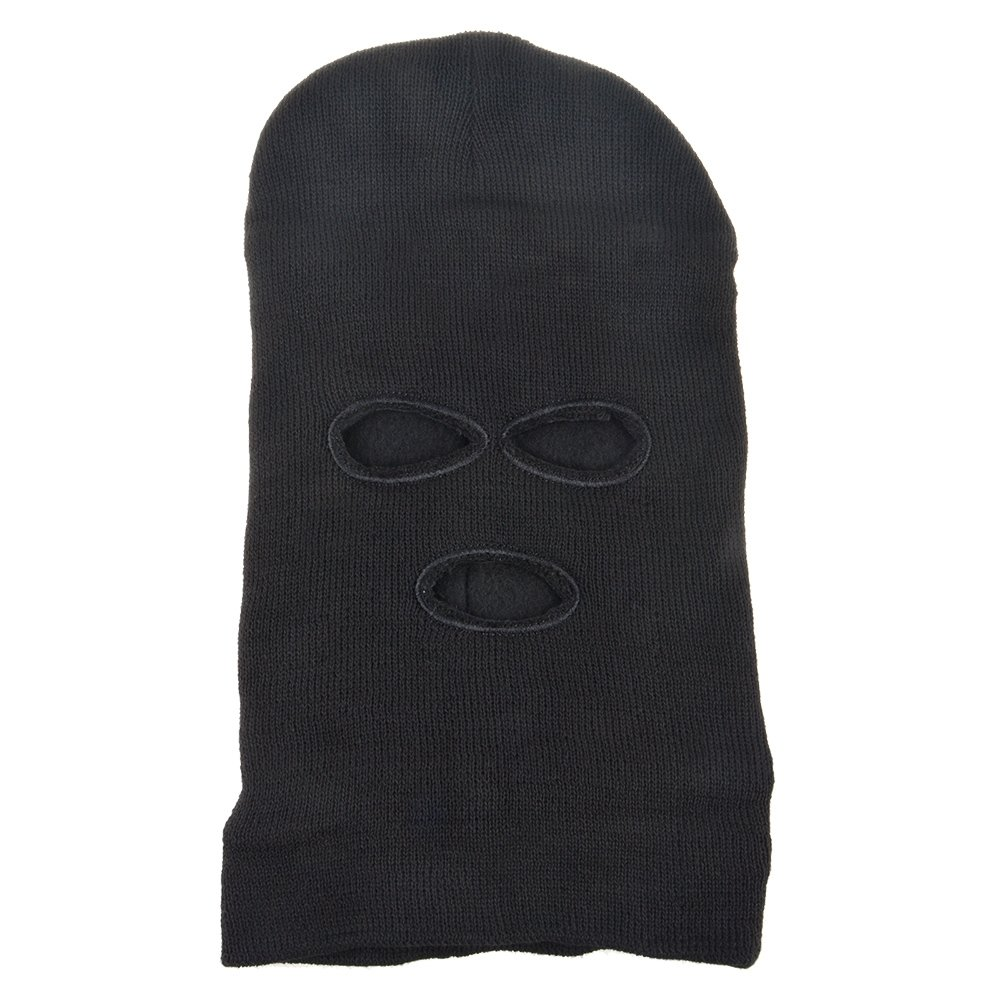 479320f709d Vani Face Mask with 3 Holes Knitted Balaclava Ski Snowboard Cycling Full  Face Cover Winter Beanie Hat Cap for Outdoor Sports Costume-Black Warm  Comfortable ...