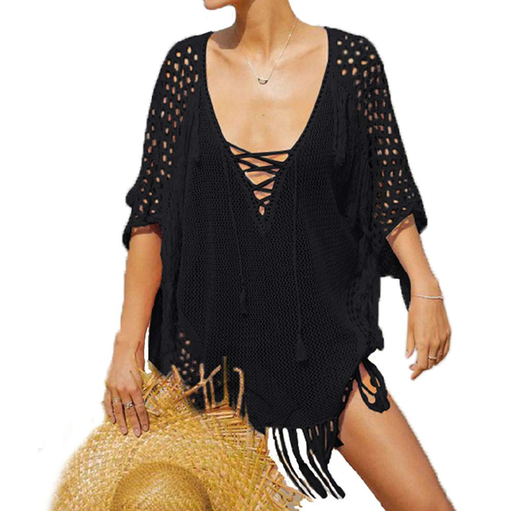 42ac2be138 【MATERIAL】: Our sexy bikini cover ups is made of polyester, soft and  breathable, silky material make your skin very cool in hot weather.