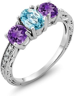 Gem Stone King 1.72 Ct Oval Purple Amethyst 925 Sterling Silver Pendant