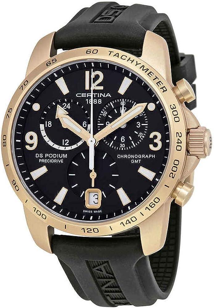 Certina DS Podium GMT C0016399705704 - Reloj cronógrafo para Hombre