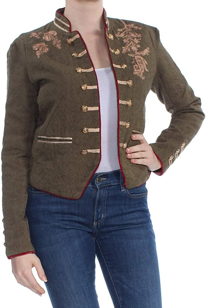 Free People Womens Lauren Fall Embroidered Jacket