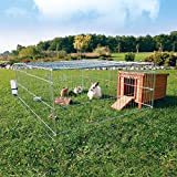 Cheap Rabbit and Guinea Pig Cage with Outdoor Run, A Convenient Roof Opening Makes It Easy To Place And Remove Pets