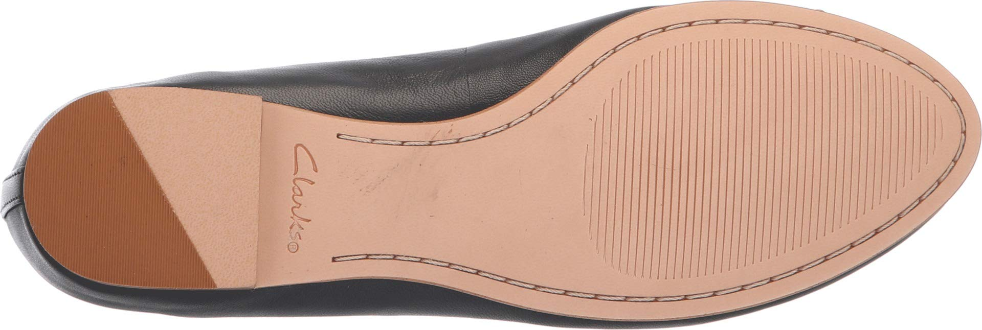 CLARKS Womens Grace Lily Ballet Flat, Black Leather, Size 7.5 by CLARKS (Image #3)