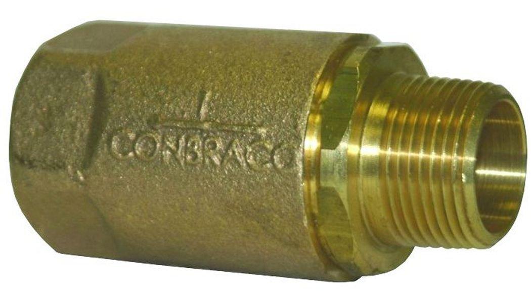 1 1 Domestic Dixon 61-205 Brass Ball Cone Check Valve MNPT x FNPT