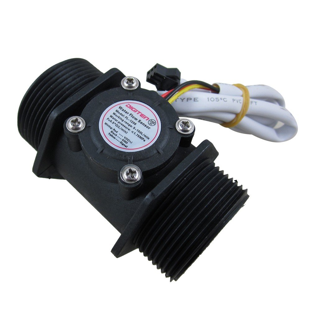 DIGITEN G1-1/2'' 1.5'' Water Flow Hall Sensor Switch Meter Flowmeter Control 10-150L/min