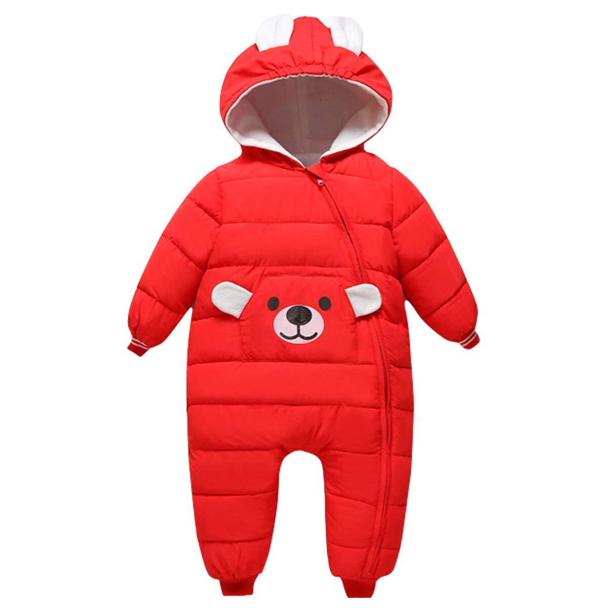 Bebone Baby Girls Boys Cartoon Hooded Winter Snowsuit