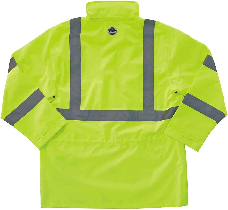 Amazon Com Ergodyne Glowear 8365 Rain Jacket High Visibility Reflective Ansi Compliant Home Improvement