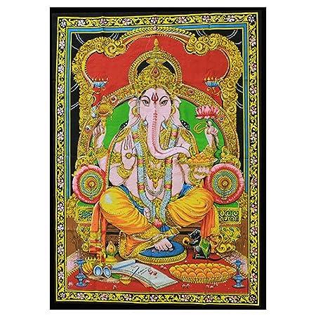 Indian Wall Art Hanging   Hindu God Ganesh