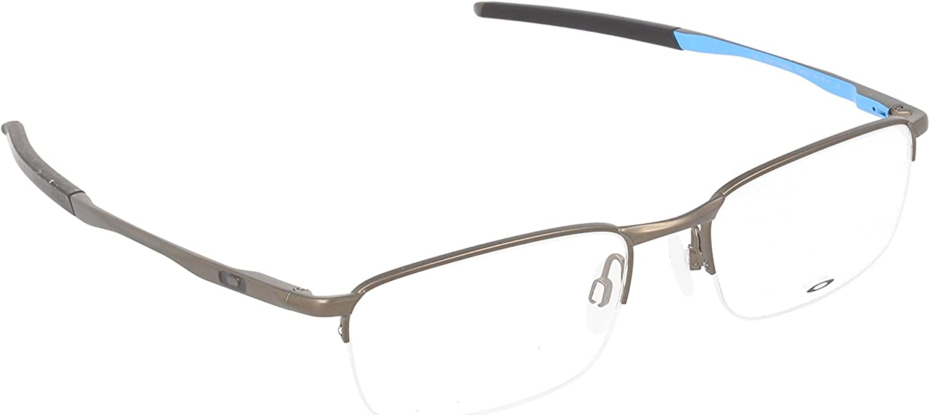 9e325a01c6 Amazon.com  OAKLEY Eyeglasses BARRELHOUSE 0.5 (OX3174-0653) Pewter ...