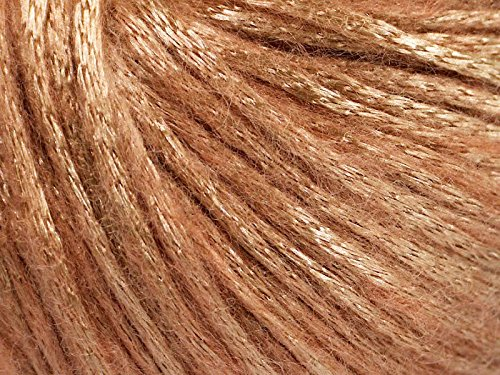 Yarn Shine Worsted (Rock Star, Pale Gold, Pale Pink, Metallic Shine, Soft Nylon Merino Wool Acrylic Blend Yarn, 50 Gram)