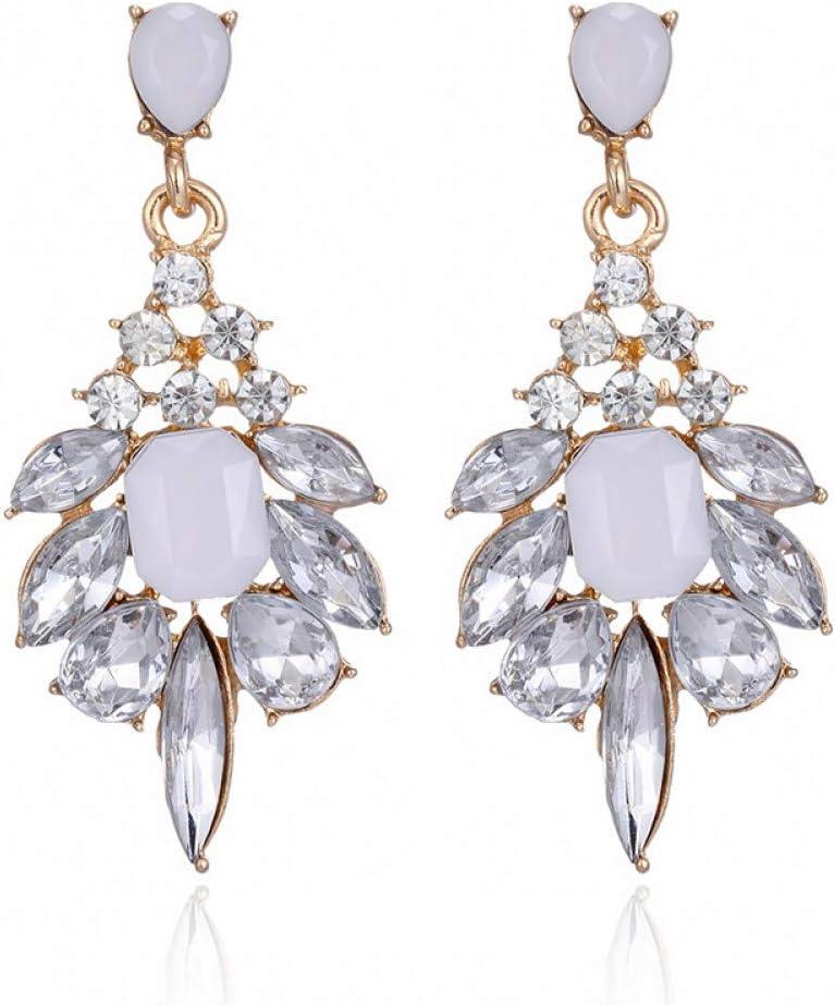 GUOZHENG Pendientes De Cristal Elegantes Pendientes Colgantes De Resina De Piedras Preciosas Moda De Moda