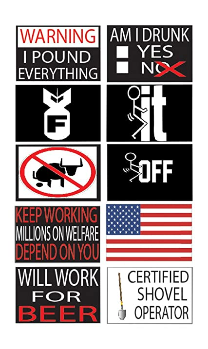 Best Selling Funny Work Hard Hat Helmet Stickers Decals Version  Toolbox Construction Worker Mechanic Value