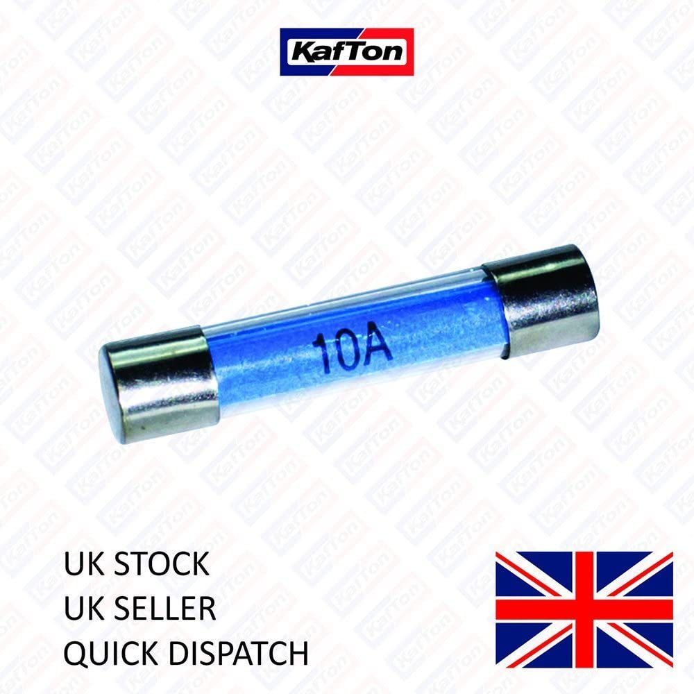 Kafton 10x Glass Fuses 10AMP Fast Acting Quick Blow Fuse 30mm Auto Electrical