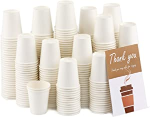 300 Pack White Paper Hot Cups, 3 Oz Disposable Paper Coffee Cups, Paper Cups for Bathroom Use,Drinks & Snacks