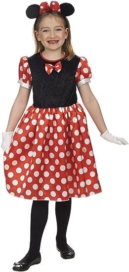 Andrea Moden 277-104 - Disfraz de ratón para niña, color rojo ...