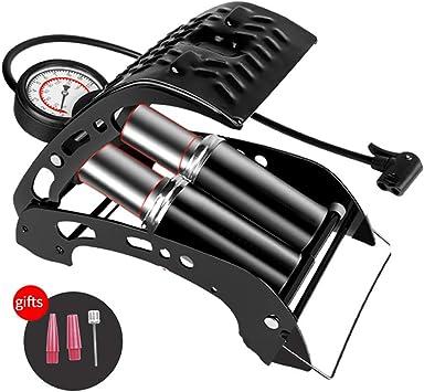 Bomba de pie Resistente con Cilindro,Bomba Bicicletas 160PSI,Bomba ...