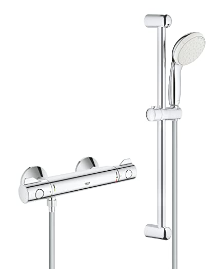 Top GROHE 34565001 | Grohtherm 800 Thermostatic Shower Set: Amazon.co WD68