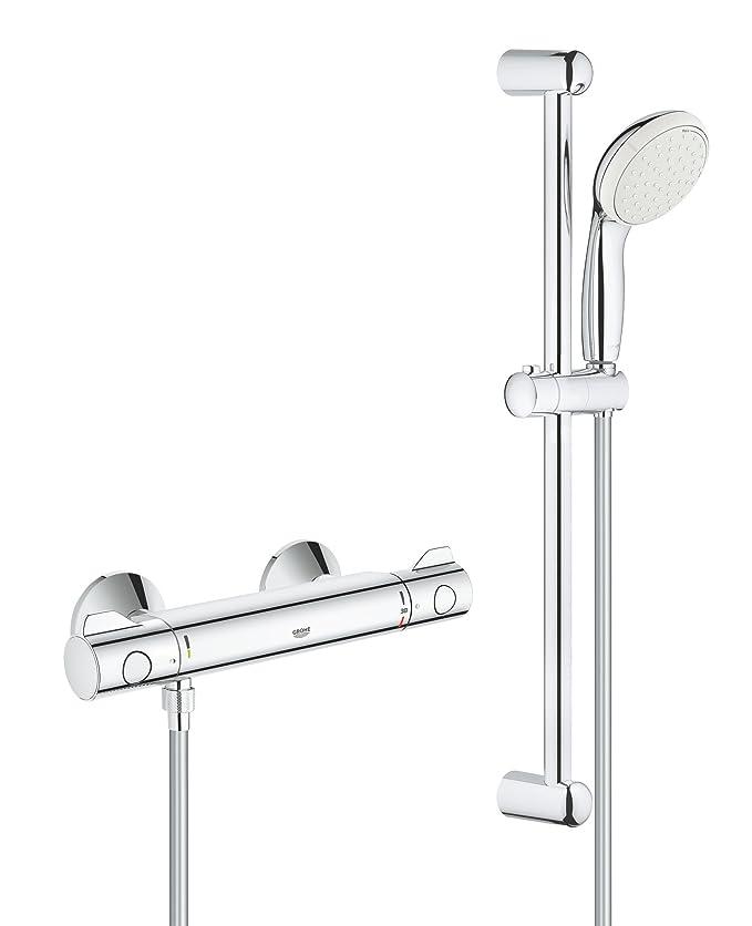Grohe 34561000 Grohtherm 800 - Grifo termostático de ducha con montaje en pared expuesto, color cromo: Amazon.es: Bricolaje y herramientas