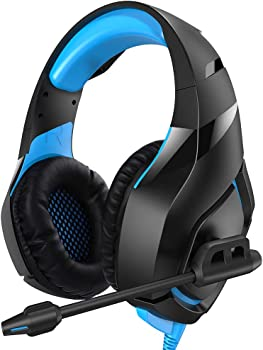 RUNMUS PS4 Gaming Headphones with Noise Canceling Mic