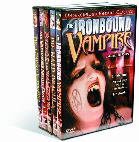 Vampires: Ironbound Vampire (1998) / Die Hard Dracula (1998) / Blood of the Vampires (1970) / Vampires Night Orgy (1972) / Vampire Happening (1971) - Orgy Com Black