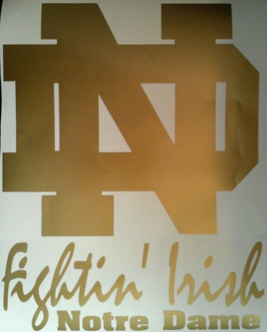 Notre Dame Fightin Irish Nd Gold Cornhole Decals - 2 Cornhole Decals by The Cornhole King