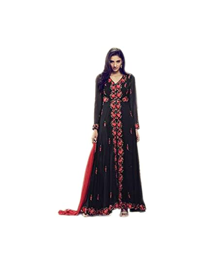 5efcb6d16fc4 Shoppingover New Collection Casual Wear semi stitch Indo western Dress-Black  Color: Amazon.in: Clothing & Accessories
