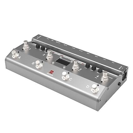 Meloaudio Cambiador de Tonos TS Mega Audio con Pedal MIDI e Interfaz de Grabación de audio