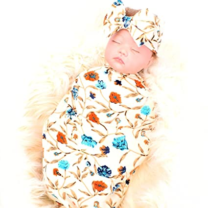 Buy Newborn Receiving Blanket Headband Set Flower Print Baby Swaddle  Receiving Blankets galabloomer Online at Low Prices in India - Amazon.in 5c4da7864