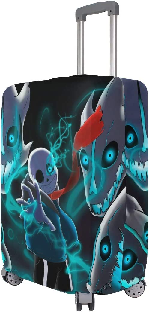 Undertale Sans Travel Luggage Cover Suitcase Protector Fits 26-28 Inch Washable Baggage Covers