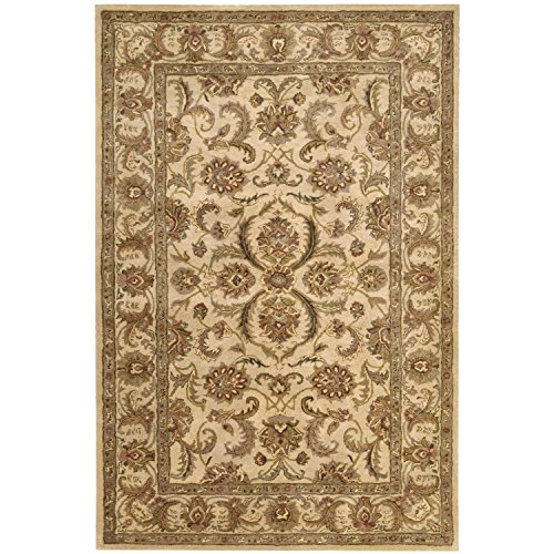 Nourison Jaipur (JA60) Ivory Rectangle Area Rug, 3-Feet 9-Inches by 5-Feet 9-Inches (3'9