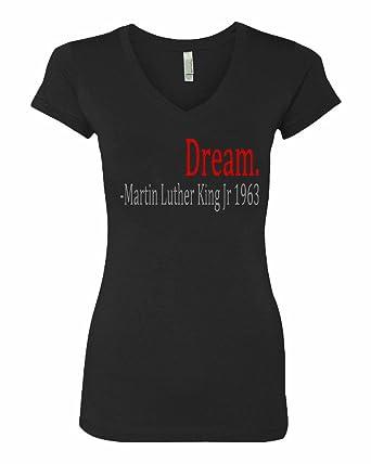 Amazon Com Manta Women S Martin Luther King Jr Dream 1963 V Neck T