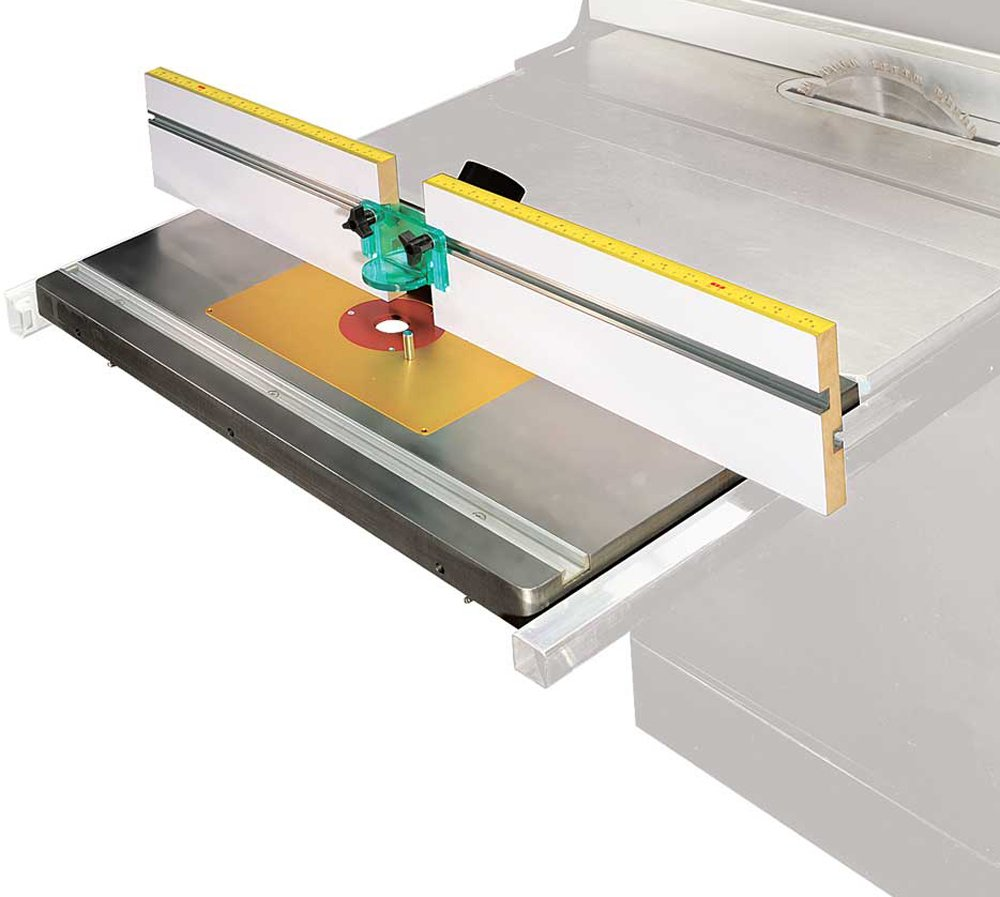 MLCS 2397 Extension Cast Iron Router Table Top & Fence with Aluminum Router Plate