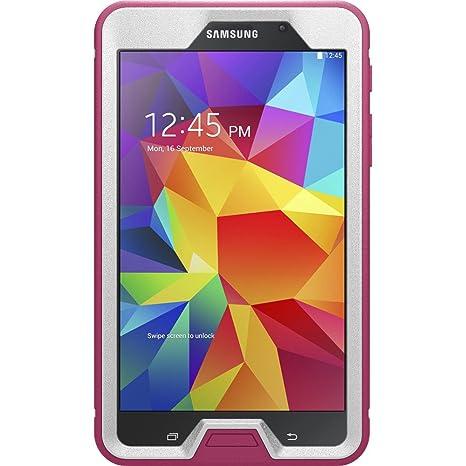 buy popular 9c8e1 c903f OtterBox Defender Series Case for Samsung Galaxy TAB 4 7.0 - Retail  Packaging - Papaya (White/Peony Pink)
