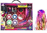 Fashion Girl Styling Temporary Hair Chalk Set Temporary Non-Toxic Portable Hair Coloring Chalk with Glittering Eye Shadow Comb Mirror Accessories 21 Pcs Gift Set