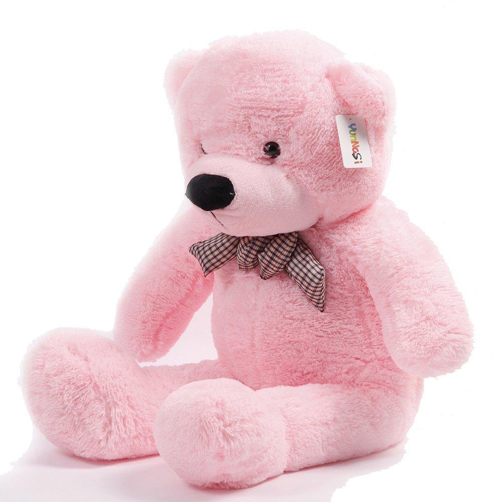 Atezza 100cm, orso, orsetto di peluche Super gigante Specifico teddy bear colore :rosa YunNasi