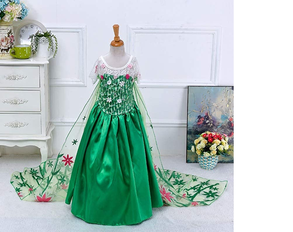 Gabriella Design - Elsa Princess Green Dress - Frozen - 6T (140)