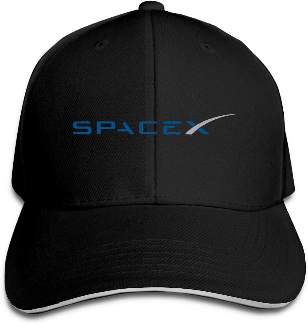 bianlidian Scaldacollo,Copricapo Multifunzione SPACEX Unisex Adjustable Baseball Caps Peaked Sandwich Hat Sports Outdoors Snapback cap