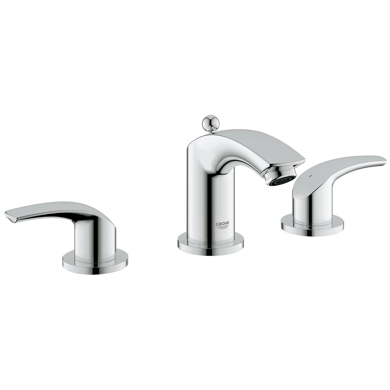 Eurosmart New 8 in. Widespread 2-Handle Low Arc Bathroom Faucet ...