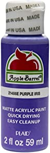 Apple Barrel Acrylic Paint in Assorted Colors (2 oz), 21486, Purple Iris